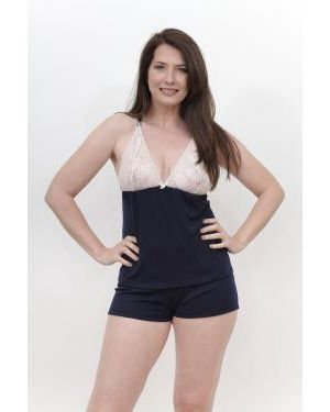 PIJAMA BRETEL REGULABLE CON SHORT LISO
